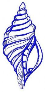 Sea shell 4 embroidery design