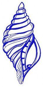 Sea shell 4 embroidery design