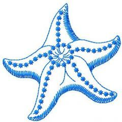 Sea star embroidery design