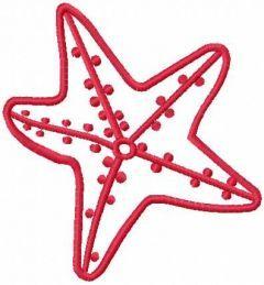 Sea star 5 embroidery design