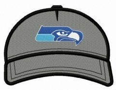 Seattle Seahawks baseball cap embroidery design