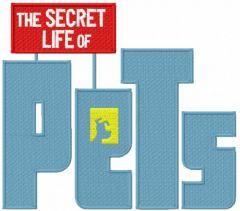 Secret Life of Pets embroidery design