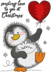 Sending love to you at Christmas embroidery design