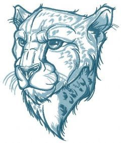 Severe cheetah embroidery design