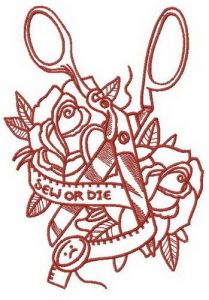 Sew or Die 2 embroidery design