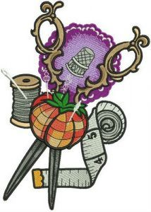 Sewer's set embroidery design