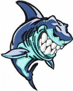 Shark embroidery design