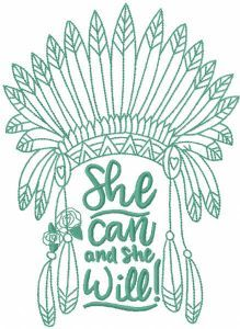 She will embroidery design