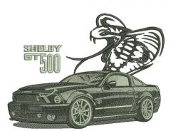 Shelby GT500 car embroidery design