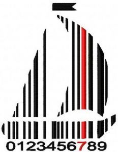 Ship barcode embroidery design