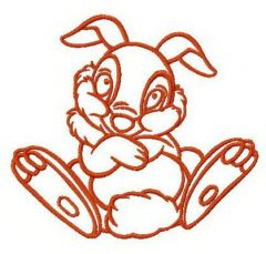 Shy bunny Thumper embroidery design