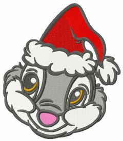 Shy Santa embroidery design
