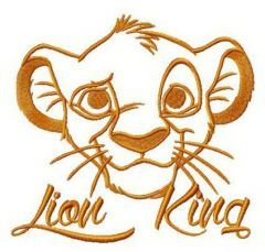 Simba Lion King embroidery design