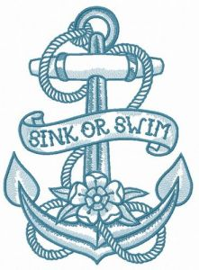 Sink or swim 2 embroidery design