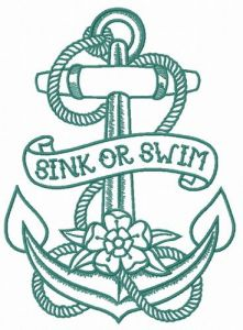 Sink or swim 3 embroidery design