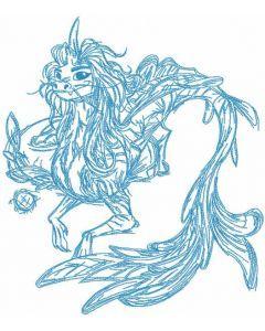 Sisu sketch embroidery design