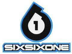 Six Six One logo embroidery design