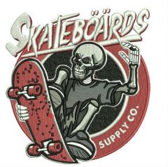 Skateboards Supply Co. 2 embroidery design