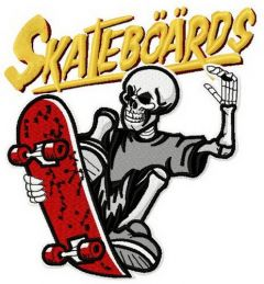Skateboards Supply Co. 3 embroidery design