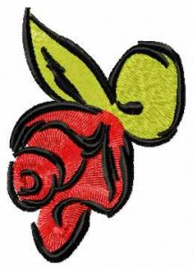 Sketch red rose embroidery design