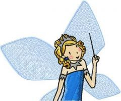 Sky the Blue Fairy embroidery design