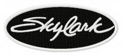 Skylark logo embroidery design