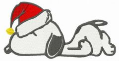 Sleeping before Christmas embroidery design
