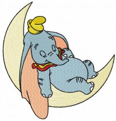 Sleeping Dumbo embroidery design