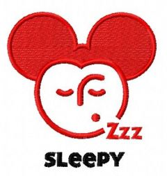 Sleepy Mickey embroidery design