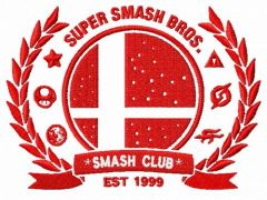Smash club logo embroidery design