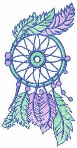 Small dreamcatcher embroidery design