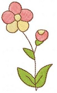 Small flower 21 embroidery design