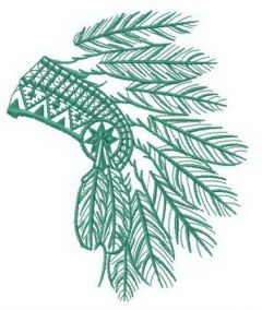 Small headdress embroidery design