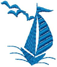Small Ship embroidery design