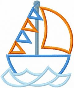 Small yacht free embroidery design