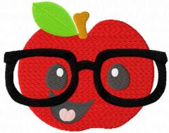 Smart apple free embroidery design