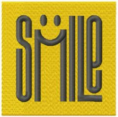 Smile lettering embroidery design