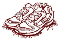 Sneakers sketch embroidery design