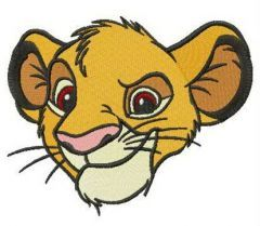 Sneering Simba embroidery design