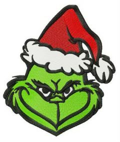 Snide Grinch embroidery design