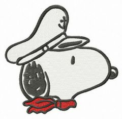 Snoopy the captain muzzle embroidery design