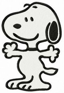 Snoopy let's hug embroidery design