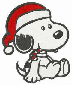 Snoopy's first Christmas embroidery design