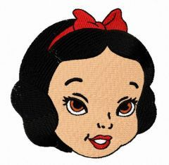 Snow White girl embroidery design