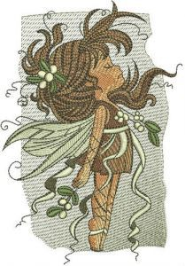 Snowberry fairy embroidery design