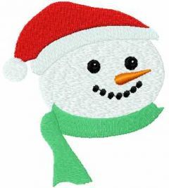 Snowman 2 embroidery design