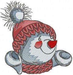 Snowman happy cold time embroidery design