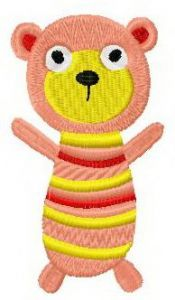Sock doll bear embroidery design