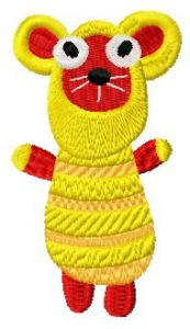 Sock doll mouse embroidery design