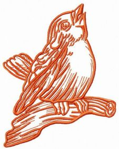 Songbird 2 embroidery design